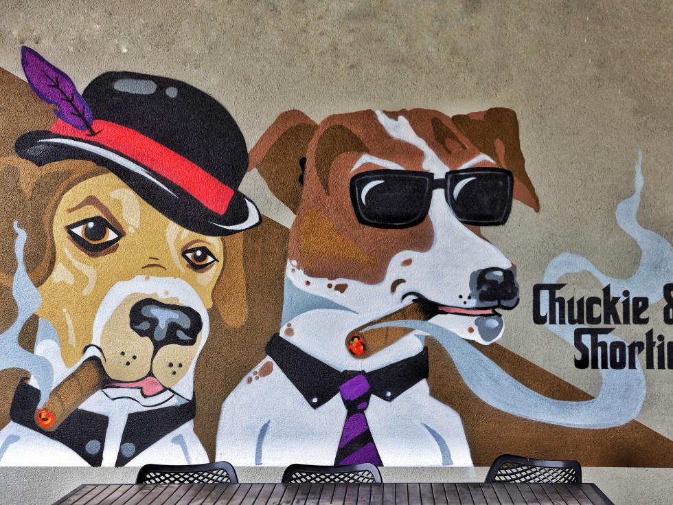 Shortie's pizza mural