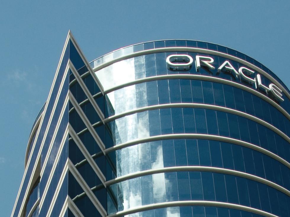Oracle logo building