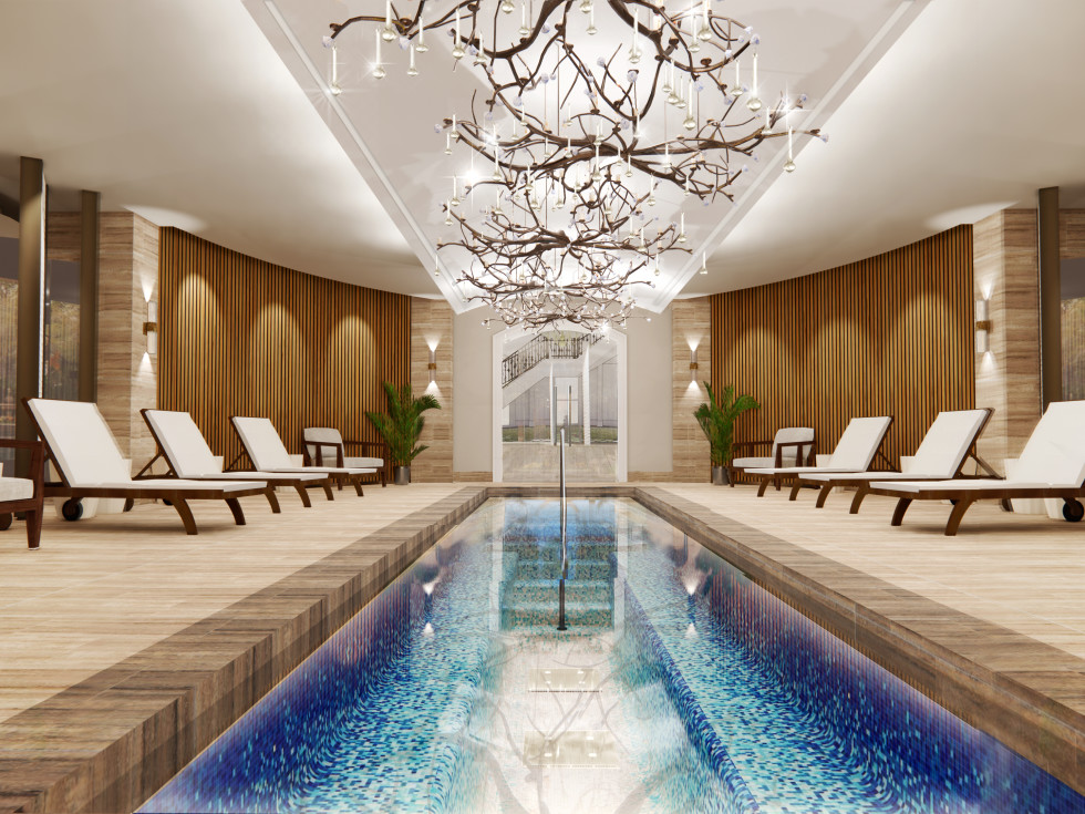 The Houstonian Hotel Trellis Spa float pool