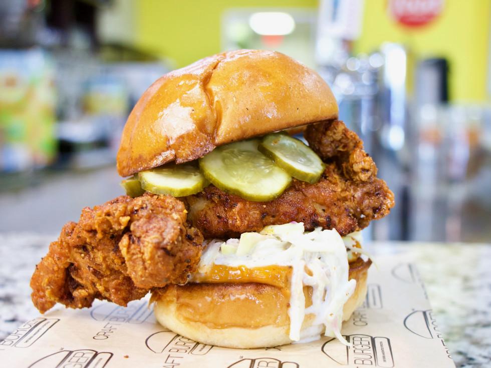 Craft Burger Katy chicken sandwich