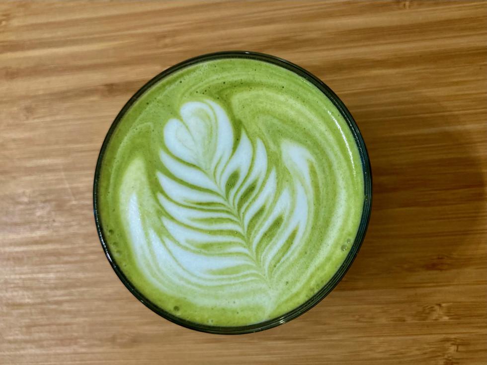 Gene Jones Coffee matcha latte