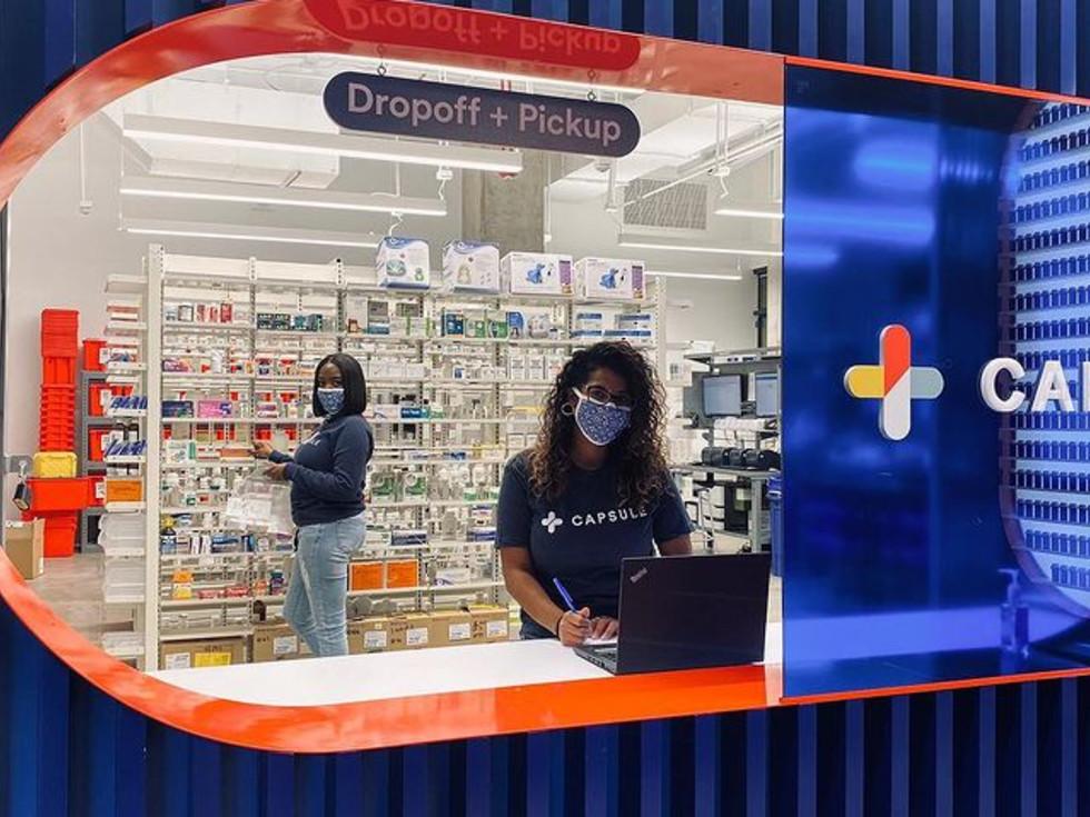 Capsule digital pharmacy and prescription-delivery service. Austin.