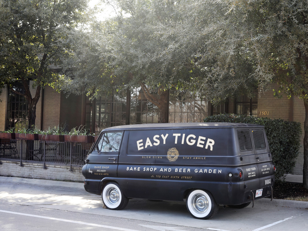 Easy Tiger van seventh street east austin location