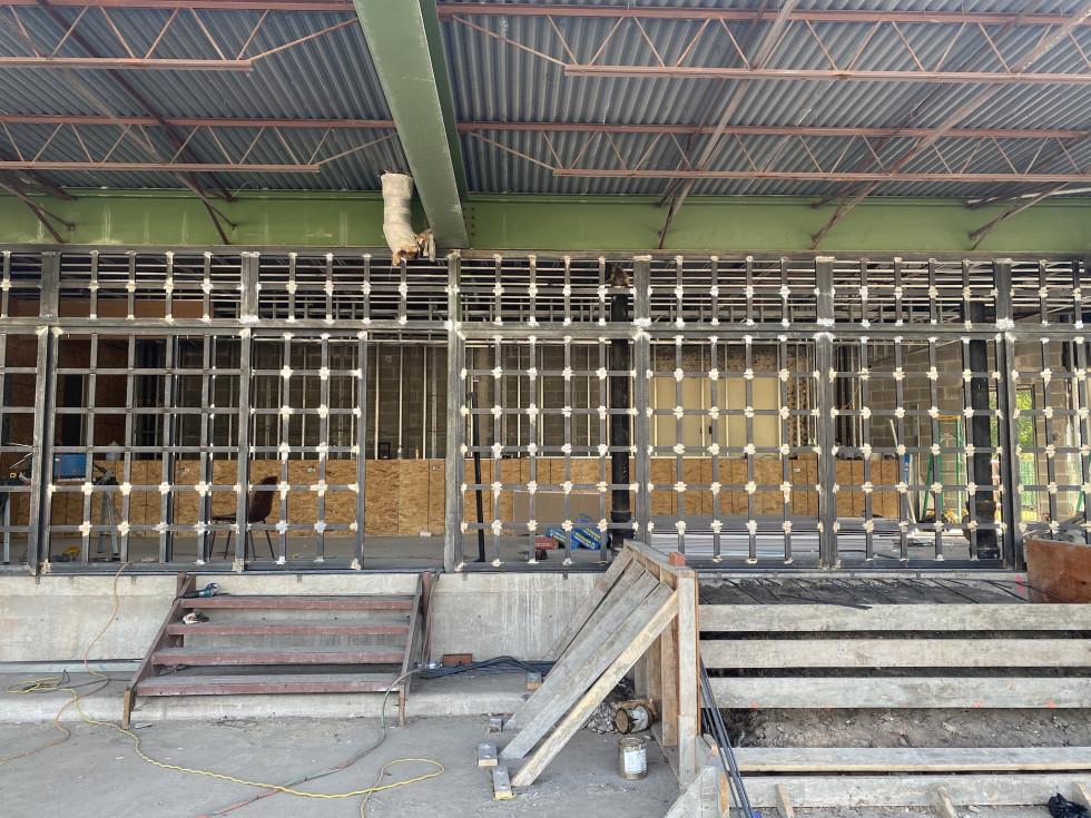 Buffalo Heights Bier Garten construction