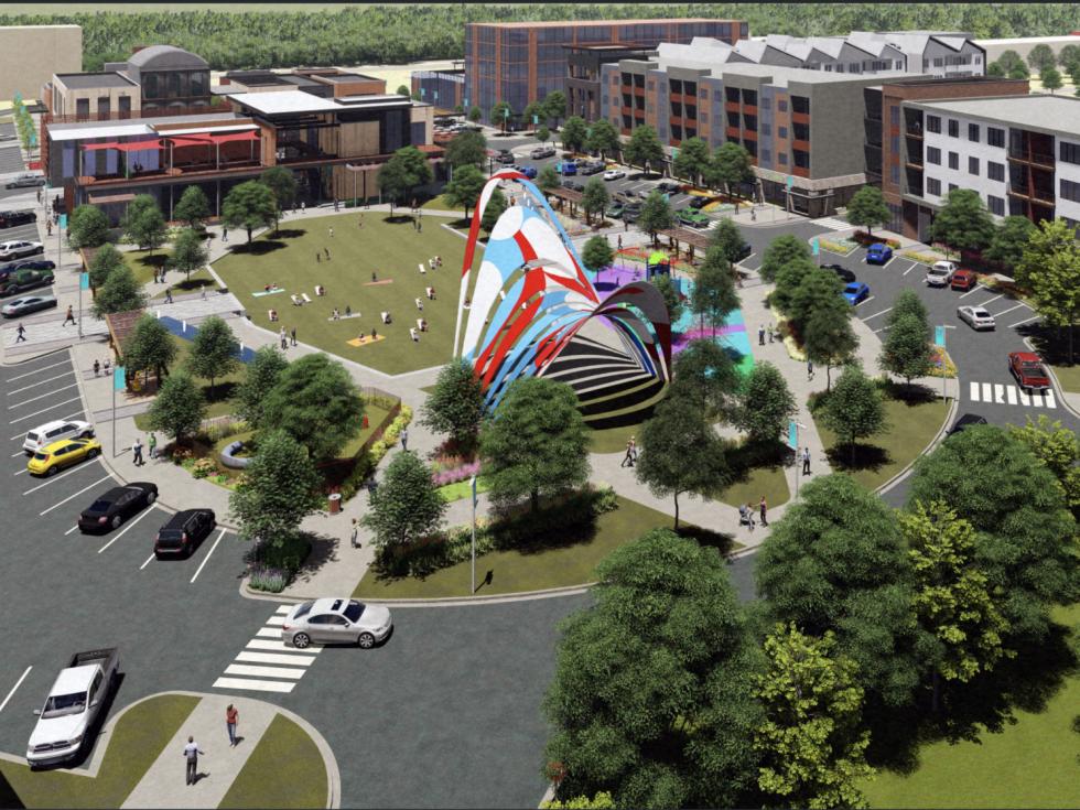 EastVillage town center rendering