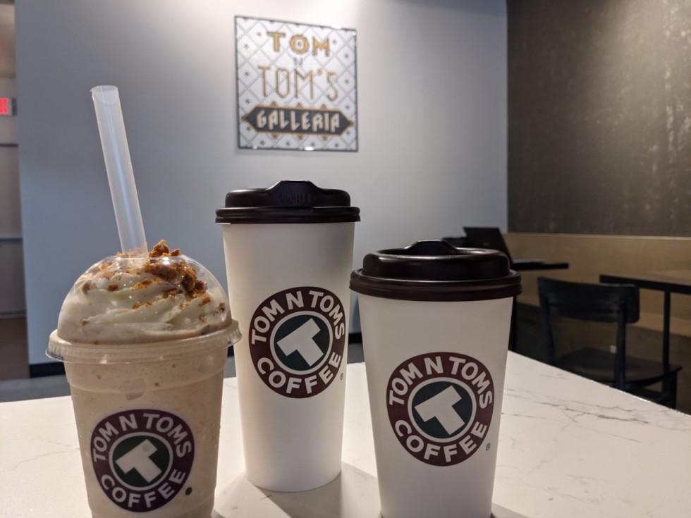 Tom N Toms Galleria coffee