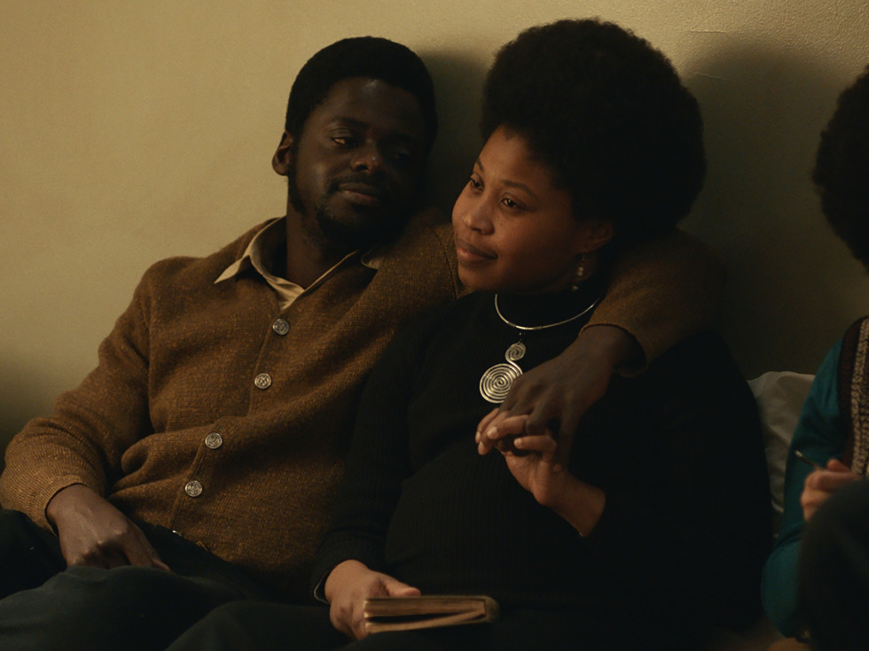 Daniel Kaluuya and Dominique Fishbach in Judas and the Black Messiah