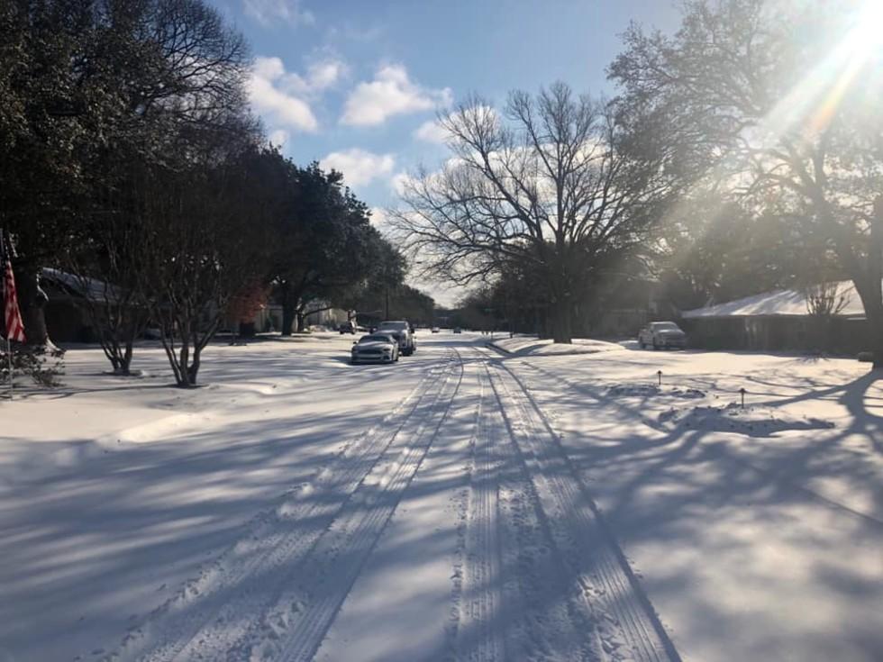 Dallas snow Feb 2021