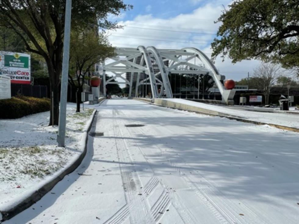 Houston Montrose snow