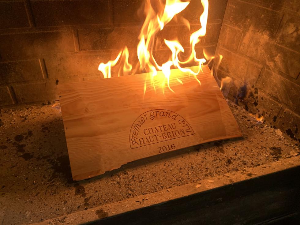 Houston snow fireplace