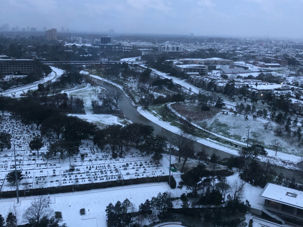 Houston River Oaks snow