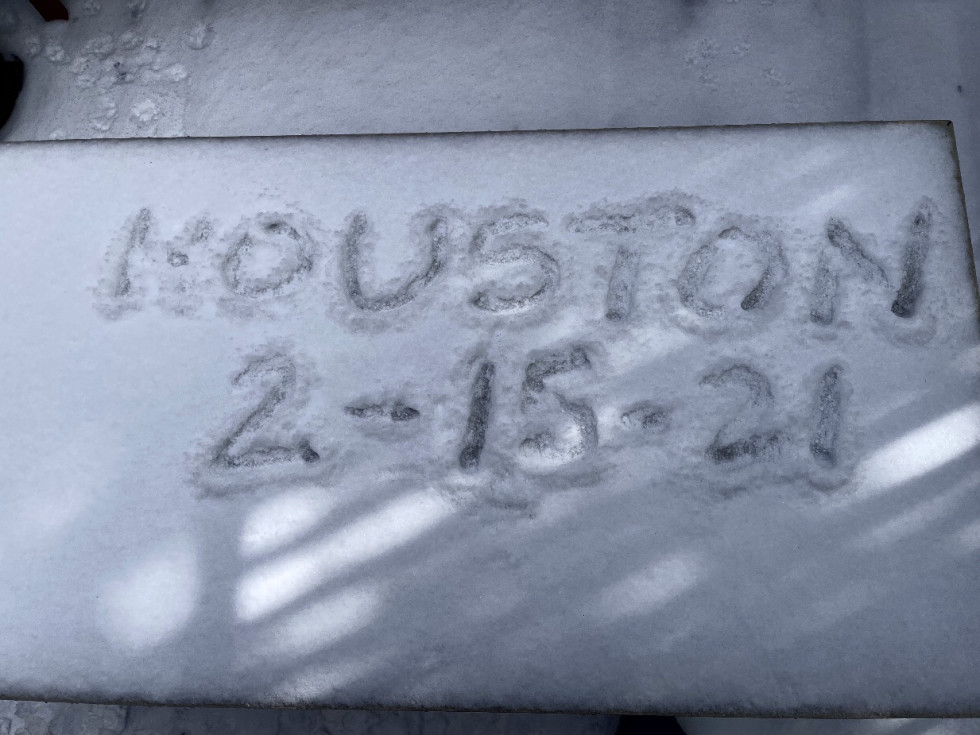 houston snow 2021 heights welcome mat