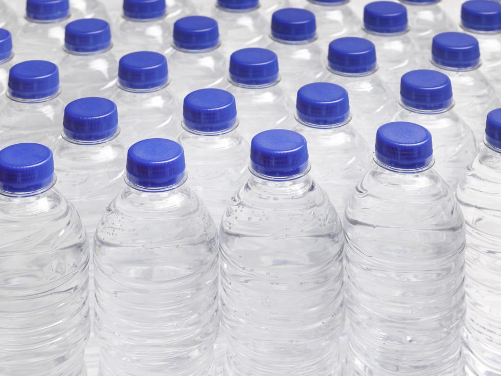 bottled water water bottles no label