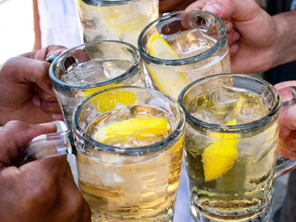 Nickel City cocktails, toast, cheers