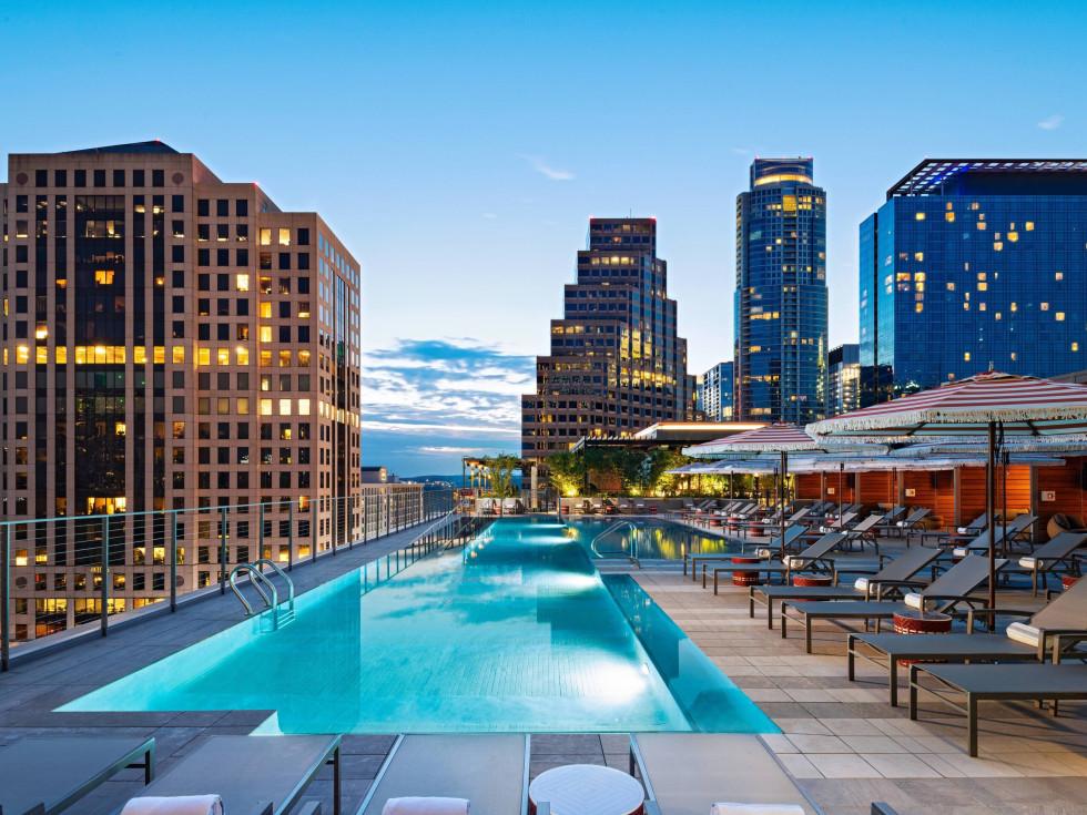 Austin Marriott Downtown pool terrace