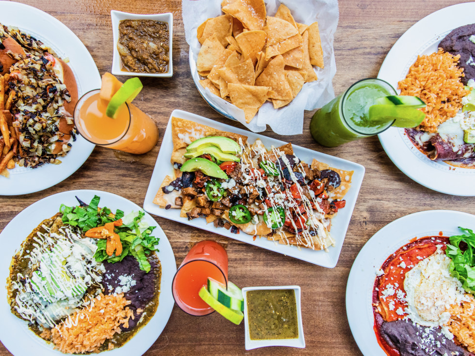 The 915 Tex Mex restaurant food spread