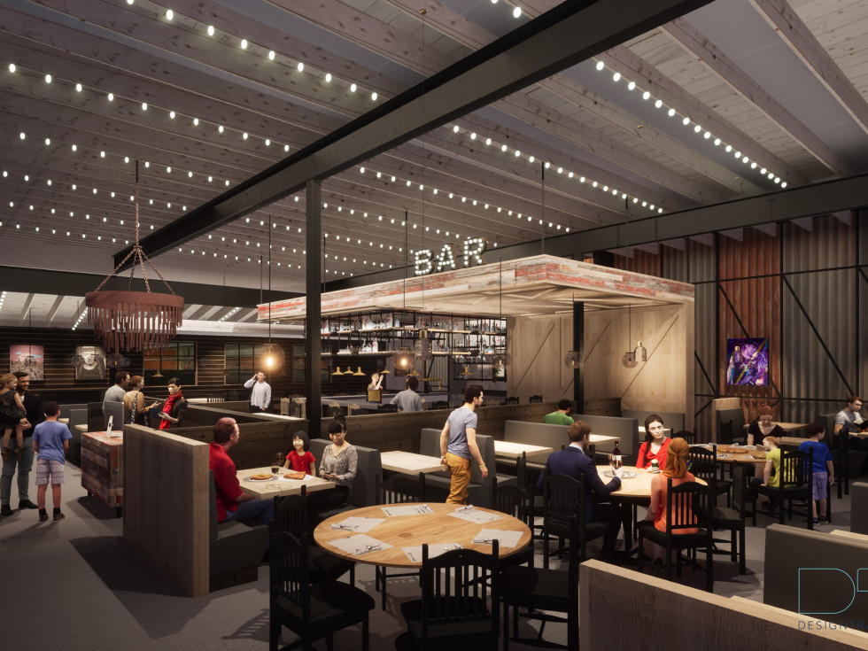 Jack Allen's Kitchen Cedar Park bar rendering
