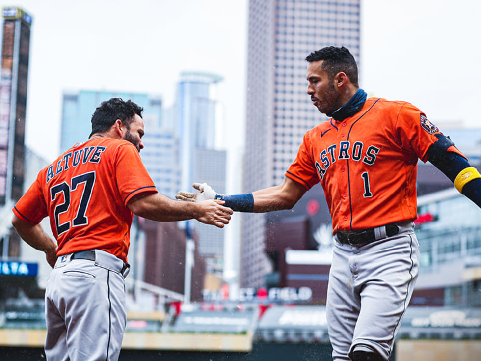 Houston Astros Altuve Correa handshake