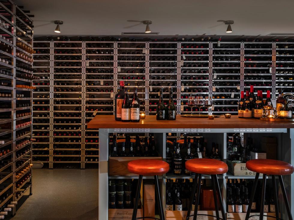 March restaurant wine cellar