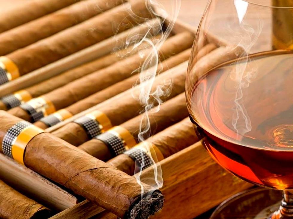 cigars whiskey