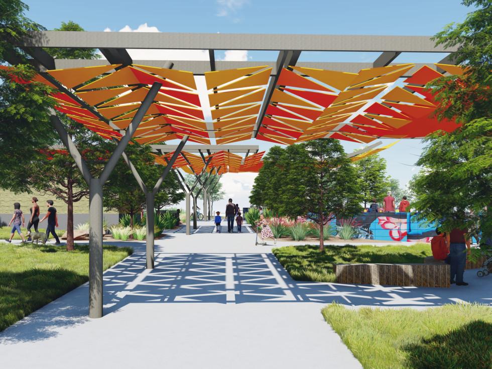 Southeast Greenway park rendering