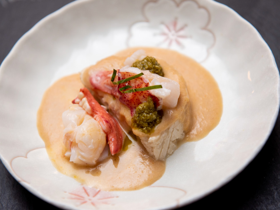 Reikina Lobster with halibut cake