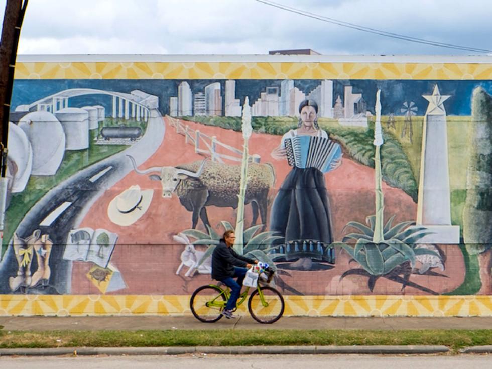 East End Houston mural cyclist