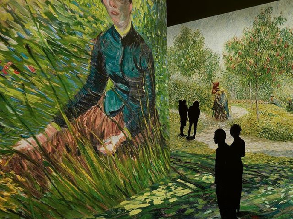 Van Gogh Woman Sitting in the Grass