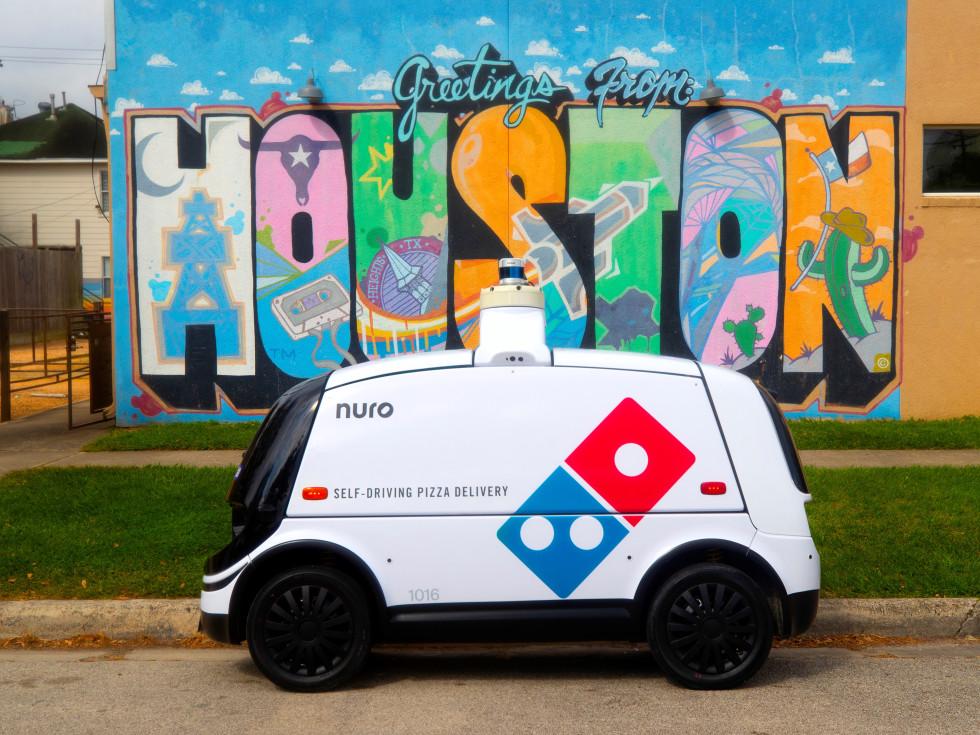 Domino's Nuro pizza delivery robot