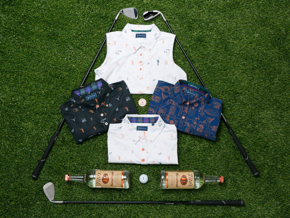 Tito's X William Murray Golf clothing Austin