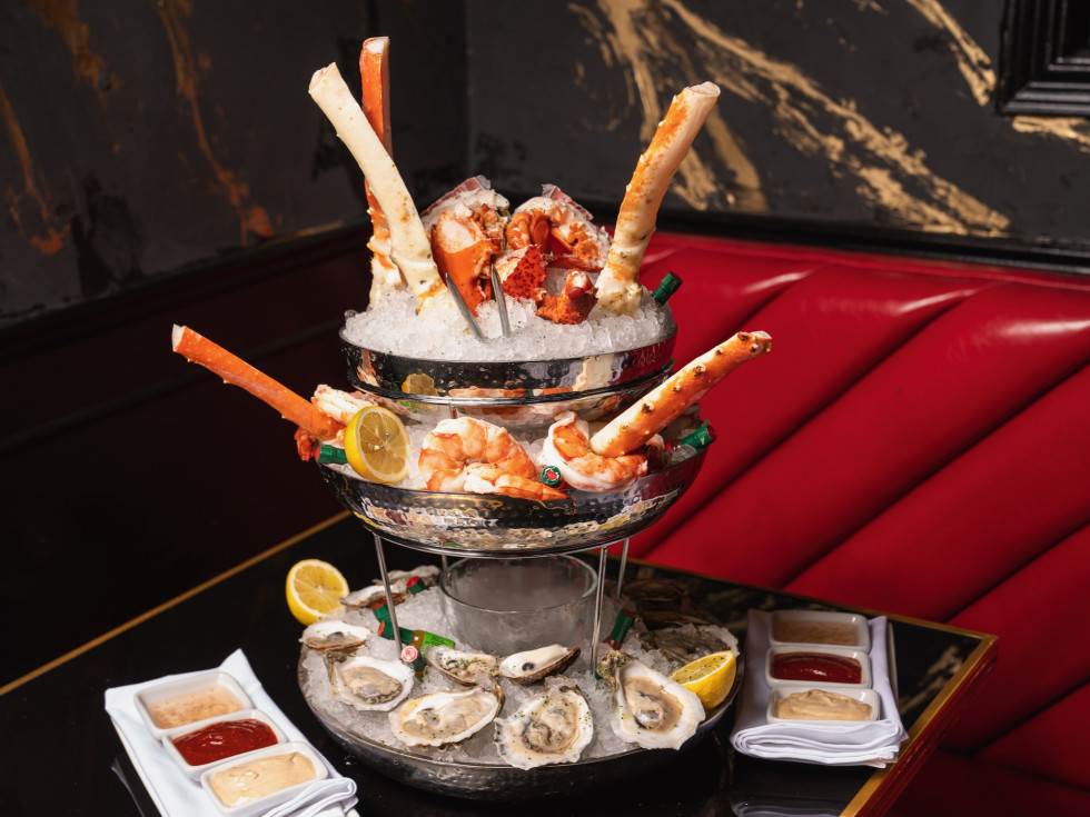 Gatsby's seafood tower