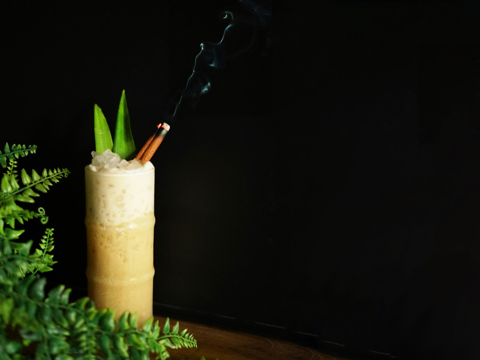 Toasted Coconut Island Hippy cocktail 420