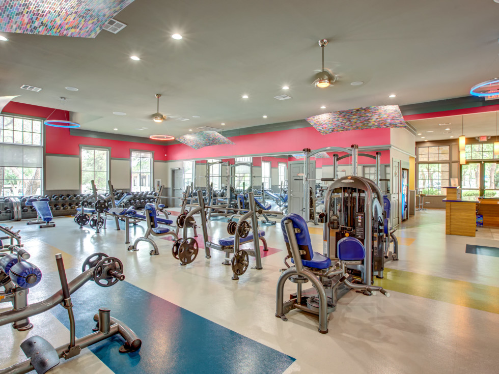 Fitness center at Riata apartments