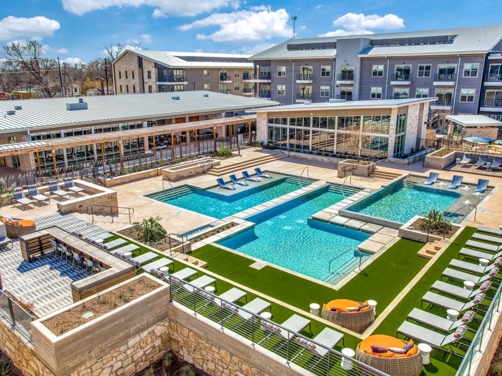 Pool at Trailhead apartments