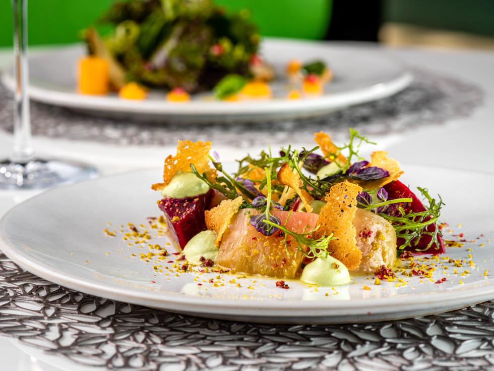 Le Jardinier beet and kale salad
