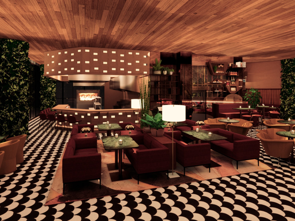 The Lymbar Main Dining Room rendering