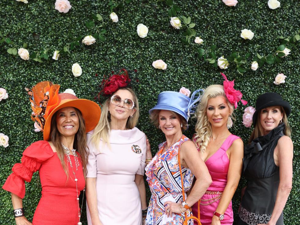 LCA Houston Mother's Day Bubbles & Bites 2021 Soly Lachternan, Marina Silver, Luanne Bozeman, Janet Acosta