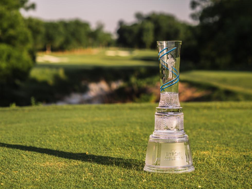 Byron Nelson trophy on course, PGA Tour