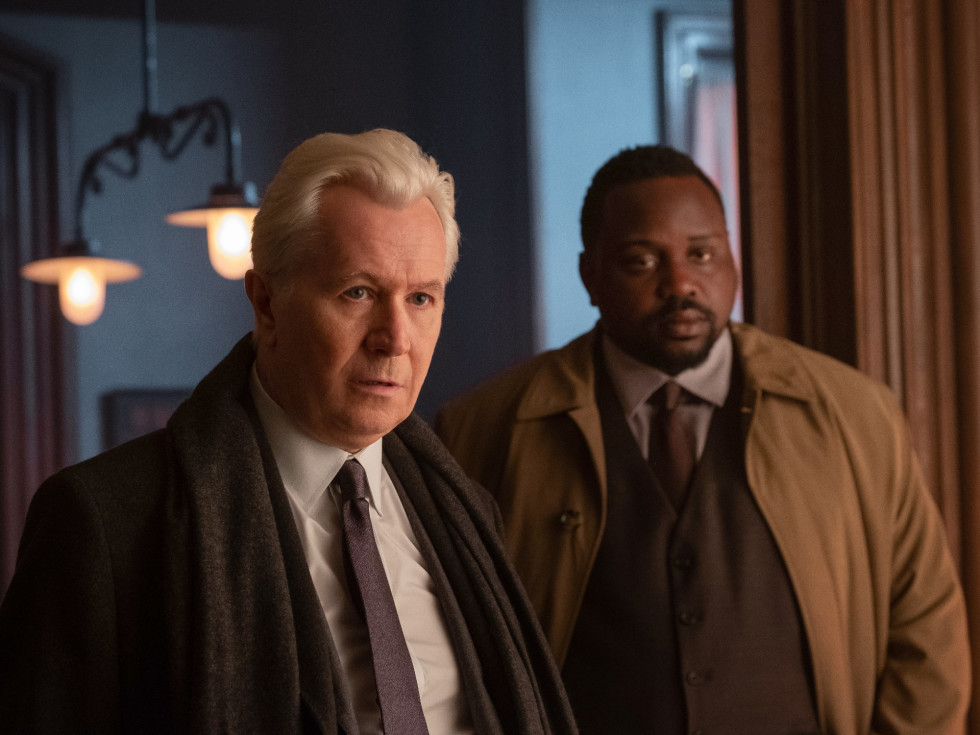 Gary Oldman and Brian Tyree Henry in The Woman in the Window