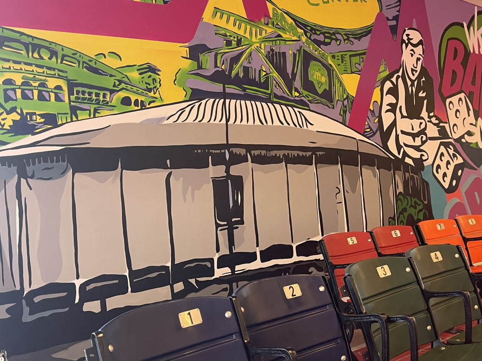 Houstonopoly Astrodome mural