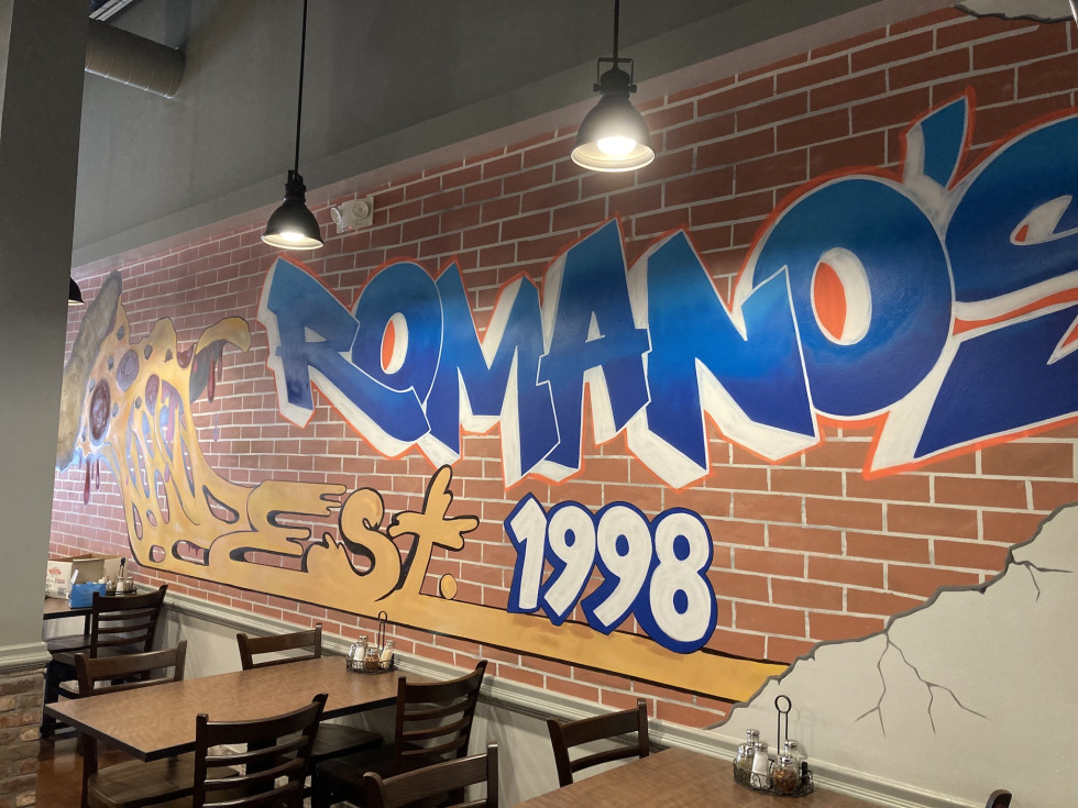 Romano's pizza mural Erick Martinez