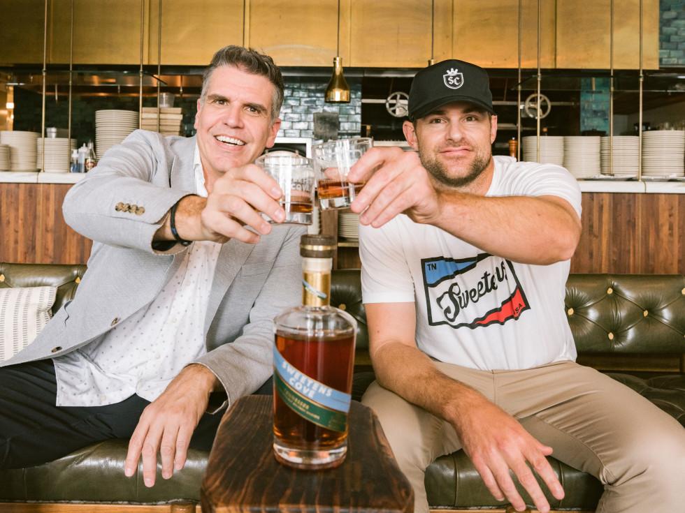 Andy Roddick and Mark Rivers