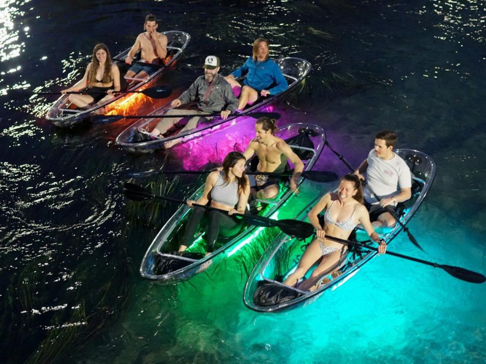 Glow kayaking