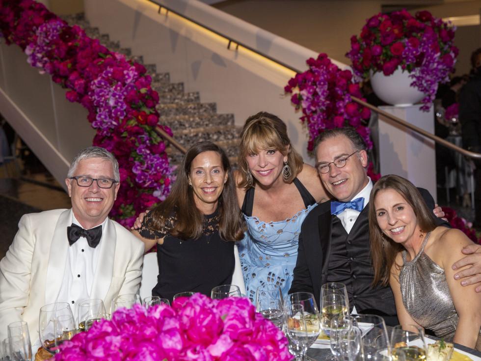 MFAH Grand Gala Ball 2021 Jeff and Gina Luhnow; Franci Neely; Jeremy and Wendi Monthy