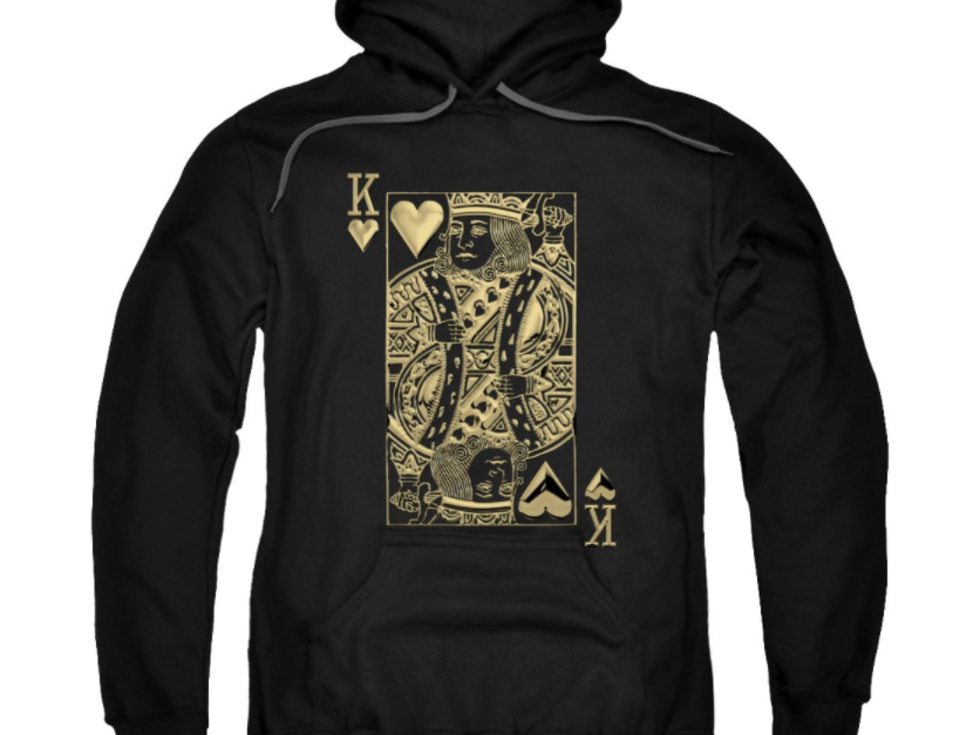 Card game hoodie, king of hearts