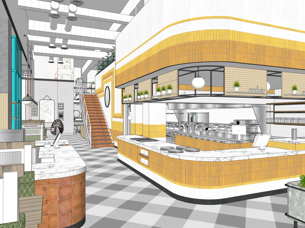 Local Foods downtown rendering