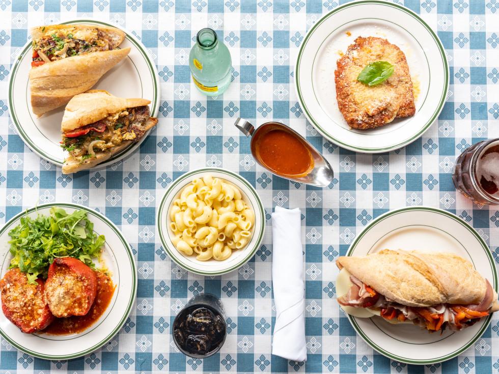 Fegen's restaurant lunch spread