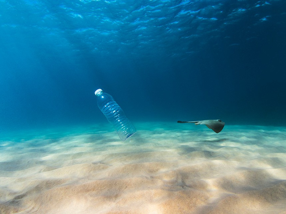 plastic bottle ocean