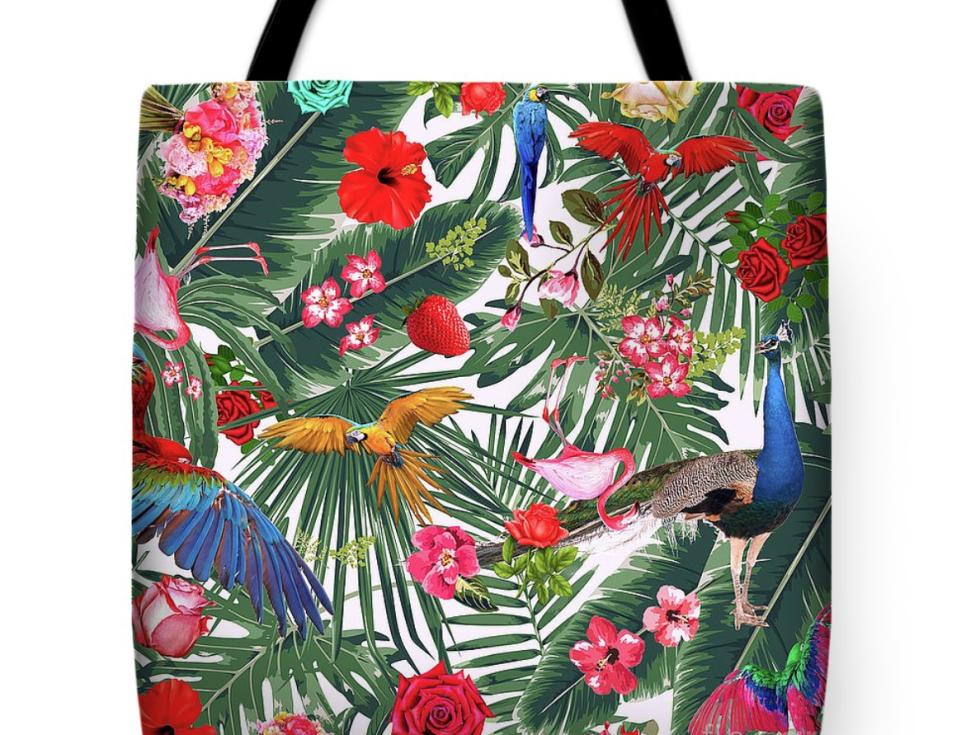 Tote bag, tropical