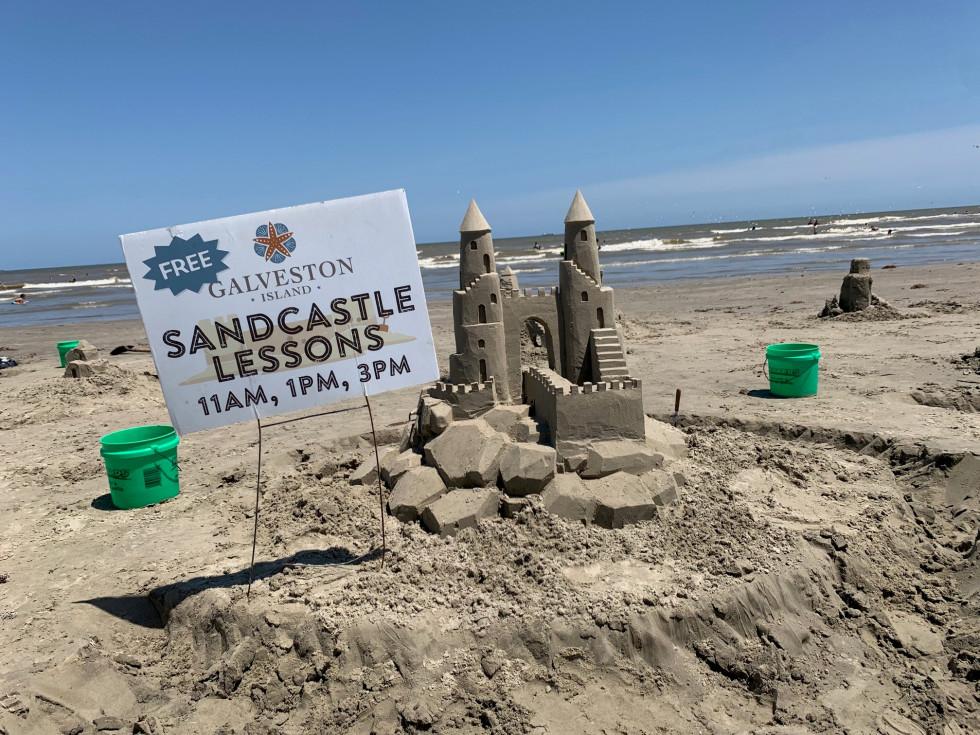 Galveston sand castle lessons